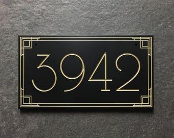 Beelman Inspired Address Sign