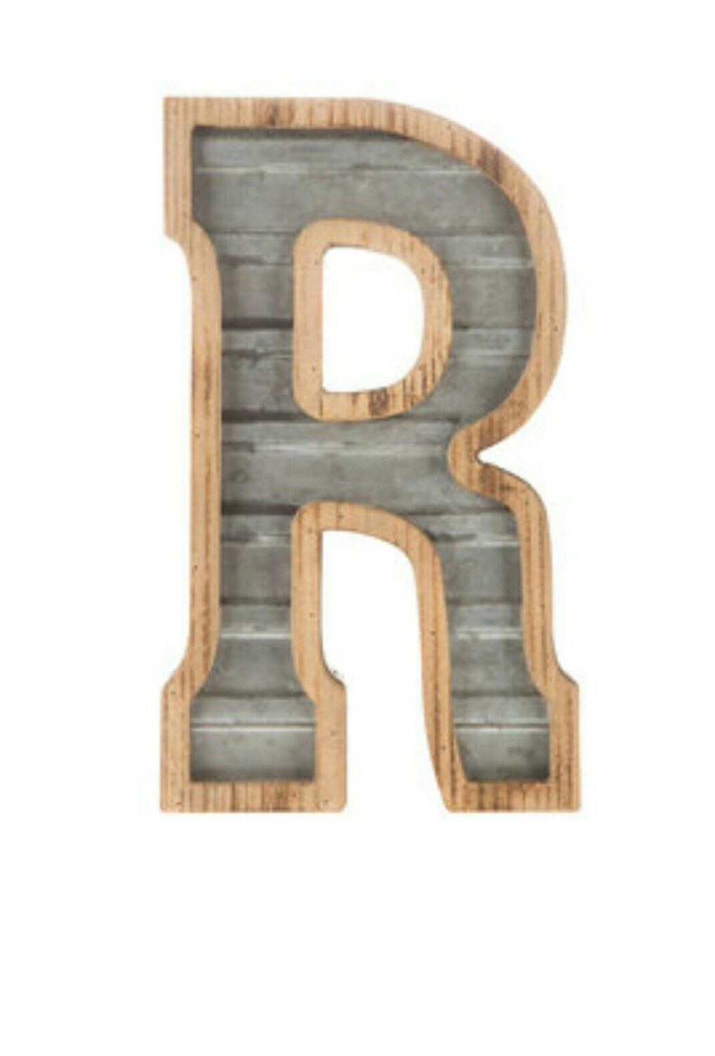 Galvanized Letter H On Sale 1 Galvanized Metal Letters R With Wood Outline Large