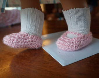 "DOWNLOAD TODAY Crocheted Mary Janes for 18"" Dolls Crochet Pattern"