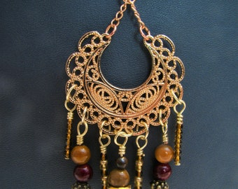 Red and Gold Chandelier Charm