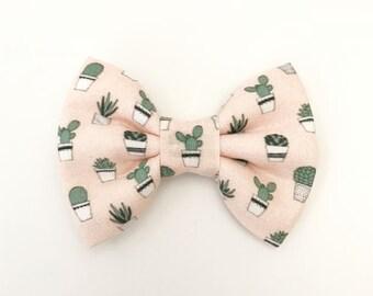 The Succulents Handmade Bow (Handmade Bow / Bow Tie / or Headband)