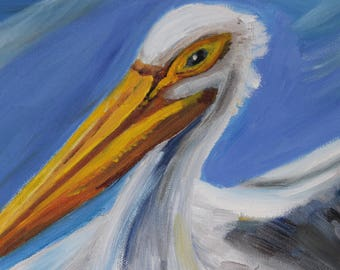 Ready for Landing- Pelican Painting