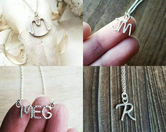Small Custom Ranch Brand, Monogram, Initials Pendant Necklace