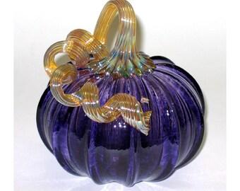 Hand Blown Glass Pumpkin