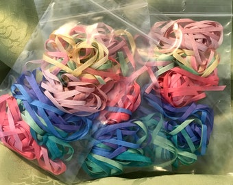 CLOSEOUT 50% OFF 10 yards 4mm variegated silk ribbon 5 colors