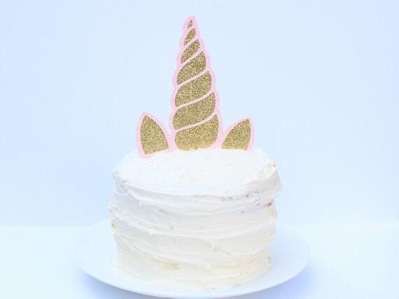 Unicorn Horn Cake Topper - Glitter - First Birthday. Smash Cake Topper. Unicorn Party Decor. Unicorn Decorations. Unicorn Cake Topper.