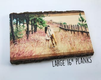 Wood Photo, 5th Anniversary Gift, Anniversary Gifts, Wood Signs, Photo on Wood, Picture Frame, Personalized Picture Frame, Picture on Wood