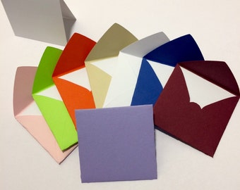 Small square envelopes with cards 2x2""