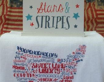 USA Patriotic Single Dish Towels