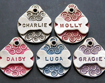 Dog Tag for Collar / Dog Tag Personalized / Dog Bone / Dog ID Tag / Custom Dog Tag for Dogs / Hand Stamped Dog Name Tag /