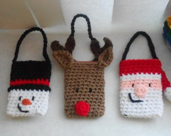 Christmas Gift Card Holder and Ornament Set - Crochet Pattern
