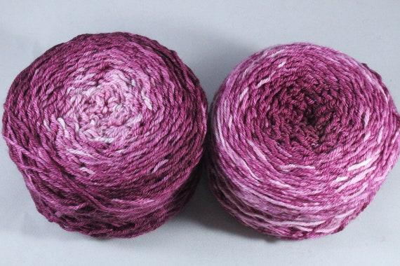 Hand Dyed DK Merino Nylon Ombré Yarn - Berry Crush