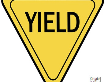 yield signs etsy rh etsy com yellow yield sign clip art Go Sign Clip Art