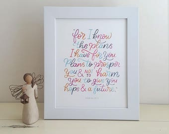 I know the plans I have for you (Jeremiah 29:11) Poster
