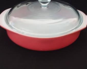 Pyrex Pink Covered Cake Pan