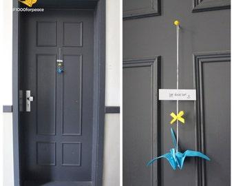 #1000forpeace door ornament