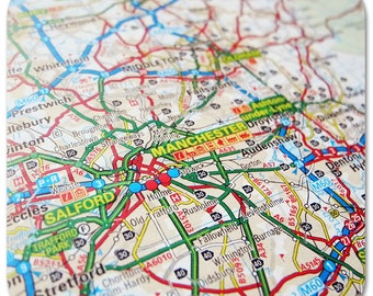 Manchester Map Coasters