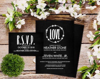 Invitation Suite - Circle of Love - Qty 25