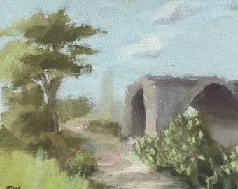 Landscape with an old house