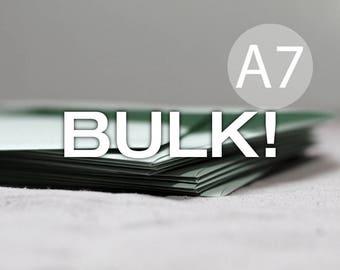 "BULK! 100 5x7 Mint Green Metallic Envelopes - Shimmer A7 Mint Green Envelopes - Wedding Envelopes - 5x7 inches (true size 5 1/4"" x 7 1/4"")"