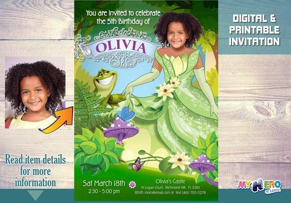 Princess Tiana Birthday Invite