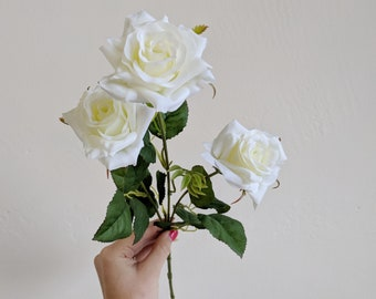 Princess Rose Spray, Princess Rose, Spray Rose, Silk Flower, Artificial Flower, Flower Stem, Floral Supply, Wholesale Flowers, Faux Flowers