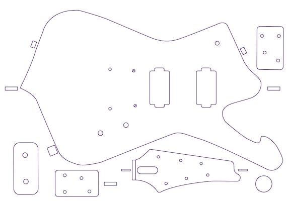 Iceman routing template for guitar making. 1976 Iceman