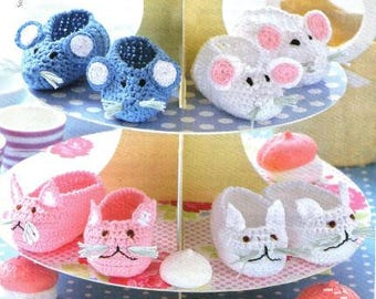 Cat or Mouse Baby Shoes