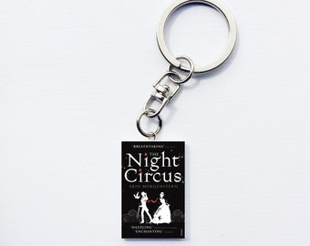 Night Circus mini book keychain