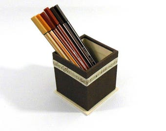 Music themed PENCILS Brown POT