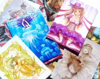 Buy 4 get 1 free limited Aceo print set