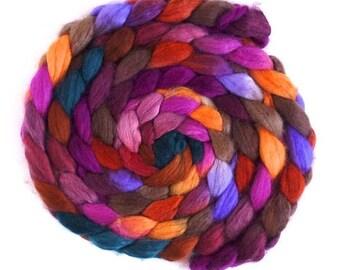 Shazam!, Superwash BFL Wool/ Nylon - Hand Painted Spinning or Felting Fiber