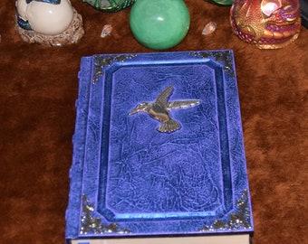 Hummingbird tome Spellbook grimoire nature book journal sketchbook Wicca druid larp cosplay