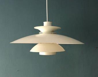 Mid-century modernist danish metal pendant lamp | Lyfa | 1960 's ·
