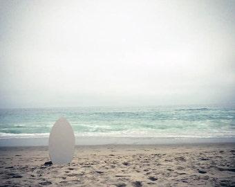 White Board-12 x 12 Strand Foto - Seascape - Ocean Scene - surrealen Szene - Skimboard - Surf