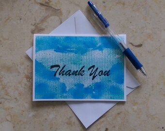 Thank You Card, Blank Thank You Card, Thank You Note Cards, Thank You Notecard