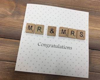 Mr & Mrs Wedding Card, wedding day card