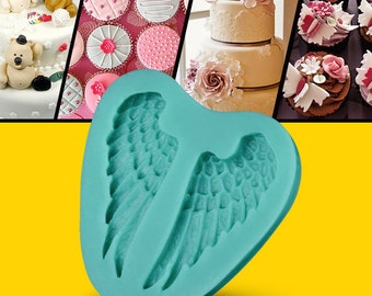 3D Angel Wings Mold Baking Mold Fondant Cake Tool Cabochon Resin Mold Soap Moulds Clay Arts