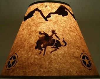 Western lamp shade etsy rustic rodeo rider lamp shade 12 inch bottom diameter 9 inch slant 5 inch aloadofball Choice Image