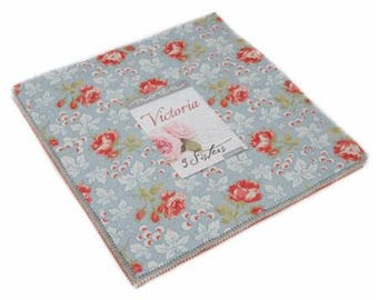 """Victoria by 3 Sisters for Moda Layer Cake 42 - 10"""" Squares"""