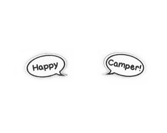 Happy Camper Speech Bubble Earrings