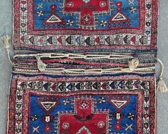 "Tribal Saddle Bags - West Persian Nomadic Pile Bags - 31"" x 62"" - Free shipping!"