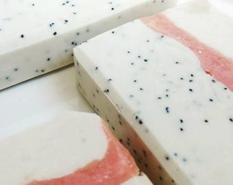 Macaroon Almond Soap, Cold Process, Natural Soap, Moisturizing Skincare, Beauty, Pretty Minimalist Soaps, Handmade Luxury Body Face Soap
