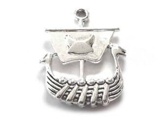 Viking Longboat Charms, Viking Pendants, Viking Charms, Viking Ship Pendant, Viking Boat Pendant, Norse Ship