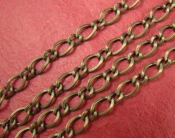 5 Feet Antique Bronze Twised Mother-Son Chains LN070