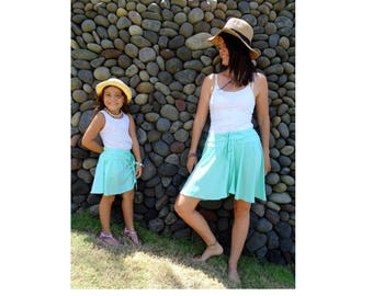 Mommy and me Outfit,Matching mother daughter Outfit,mommy and me skirt,mother daughter matching skirt,mint,summer skirt, Mother's Day gift
