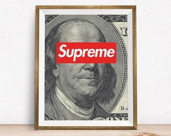 Louis Vuitton Supreme, Wall Art, Louis Vuitton Art, Supreme Art, Supreme Download, Printable Art, House Decor, Supreme Wall Print, Supreme