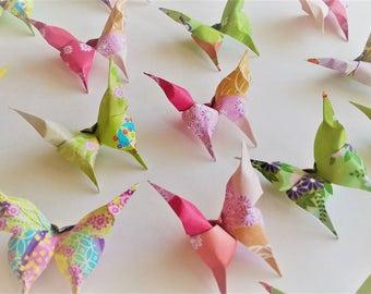 96 origami butterfly, Japanese fancy paper, handmade paper butterfly