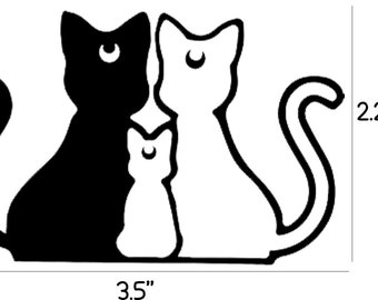 Luna, Artemis, & Diana Decal (Sailor Moon)