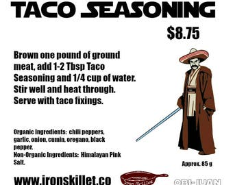 Organic Taco Seasoning - 5-10 meals - Organic Mexican Spice